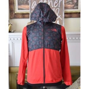 Boys The North Face Jacket Black & Red Size XL